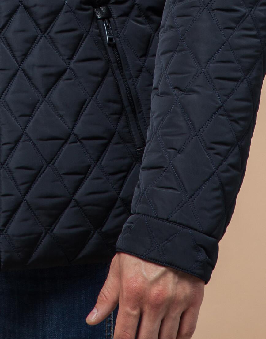 Оригинальная куртка темно-синяя зимняя модель 1698 фото 5
