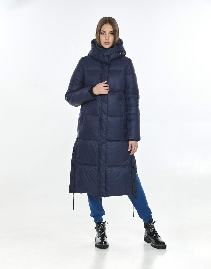Синяя стильная куртка Vivacana женская 7654/21 фото 2