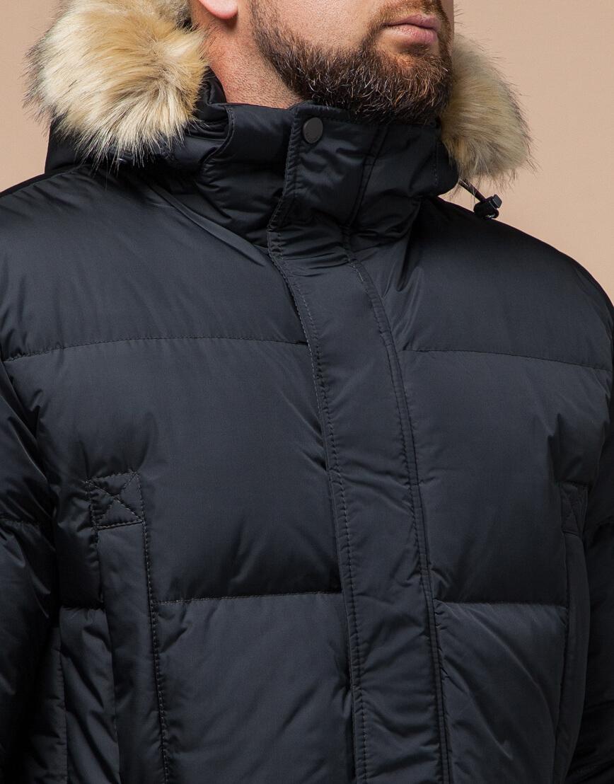 Куртка мужская большого размера графитовая модель 2084 фото 4
