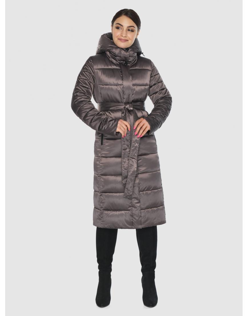 Стильная подростковая куртка Wild Club капучиновая зимняя 538-74 фото 3