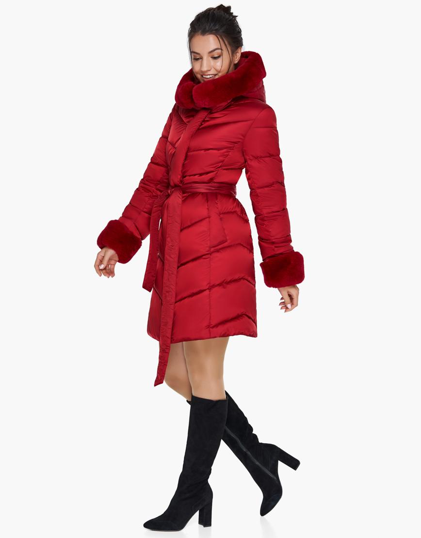 Женский модный воздуховик зимний Braggart рубиновый модель 31068 фото 3