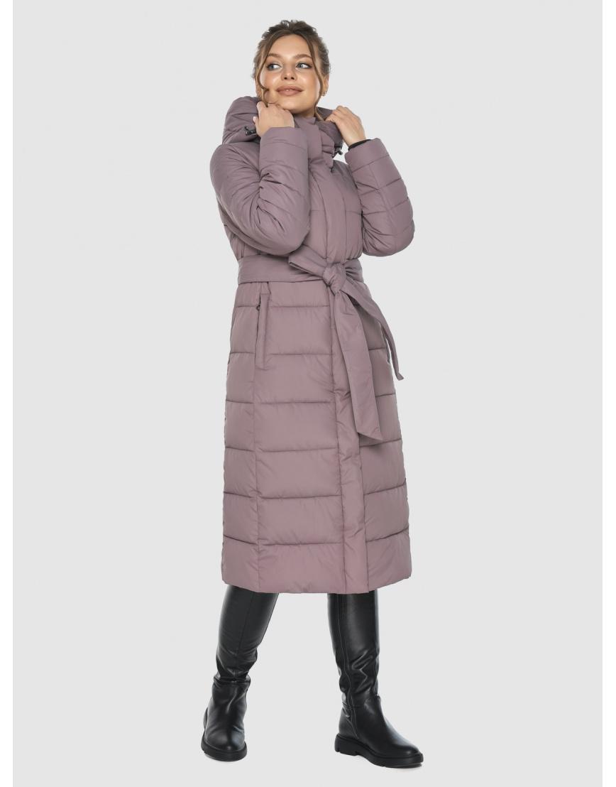 Куртка длинная женская Ajento цвет пудра 21152 фото 2