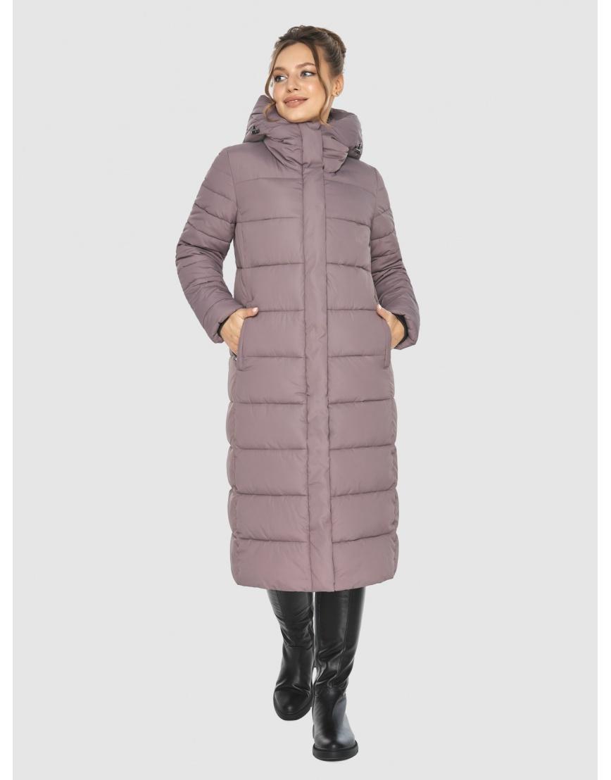 Куртка длинная женская Ajento цвет пудра 21152 фото 6