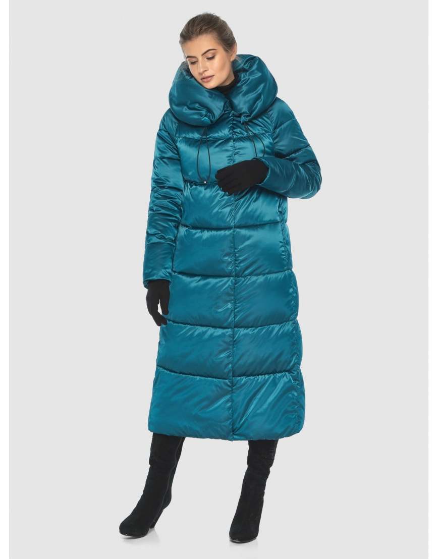 Куртка комфортная подростковая Ajento зимняя аквамариновая 21550 фото 3