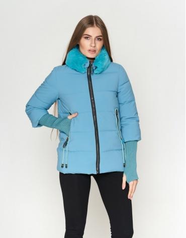 Куртка короткая женская голубая модель 1719-1 фото 1