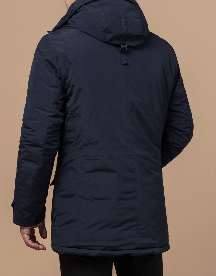 Синяя зимняя парка качественного пошива модель 48560 фото 3