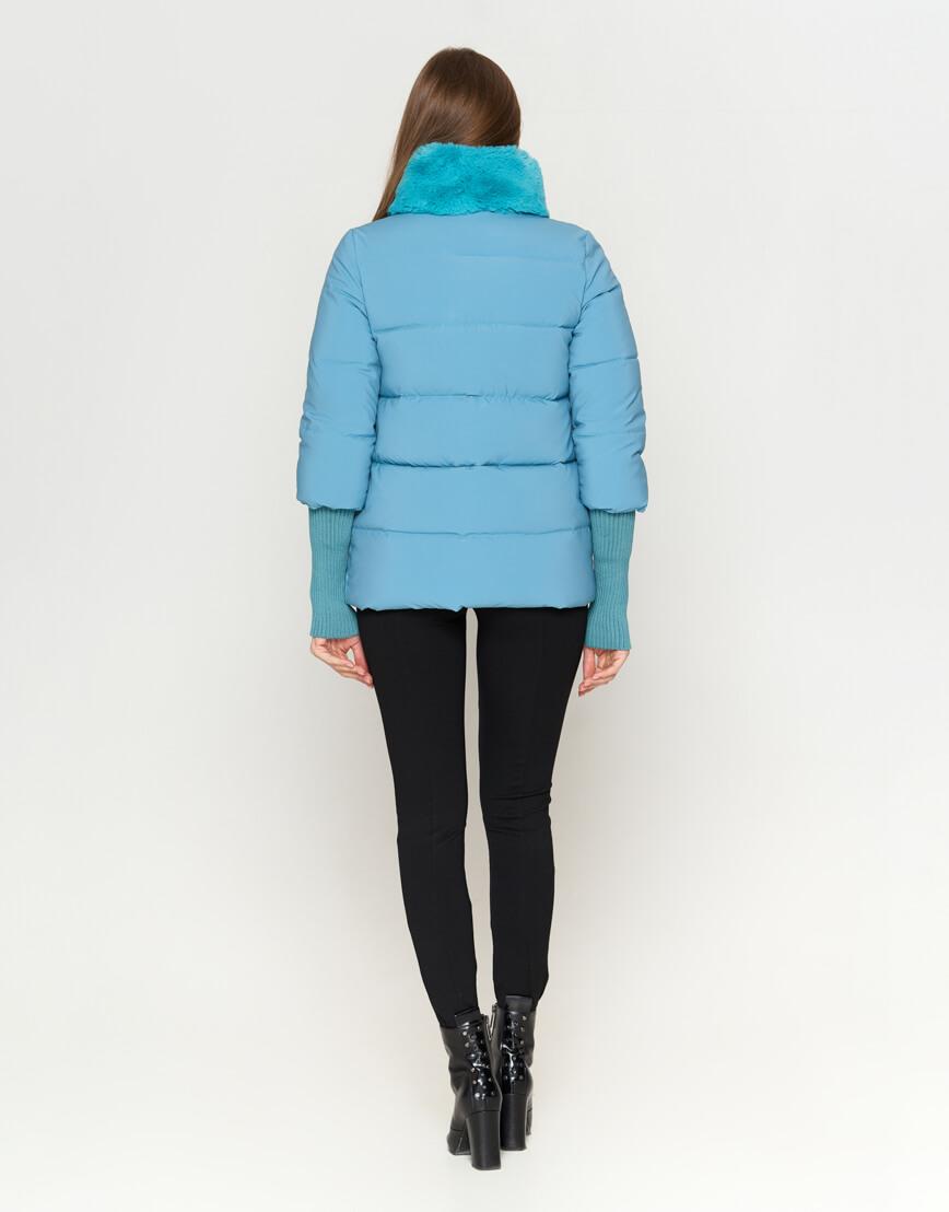 Куртка короткая женская голубая модель 1719-1 фото 4