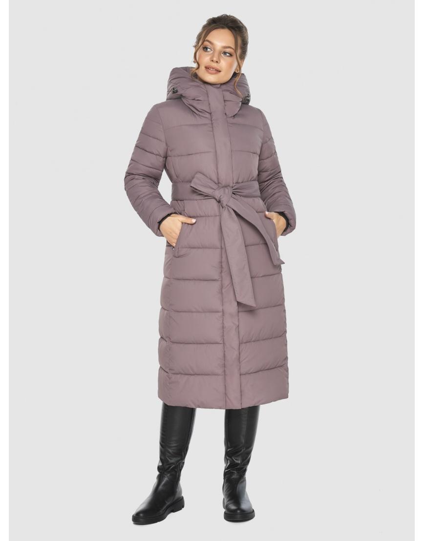 Куртка длинная женская Ajento цвет пудра 21152 фото 3