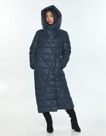 Комфортная куртка подростковая синяя Moc на зиму M6715 фото 1