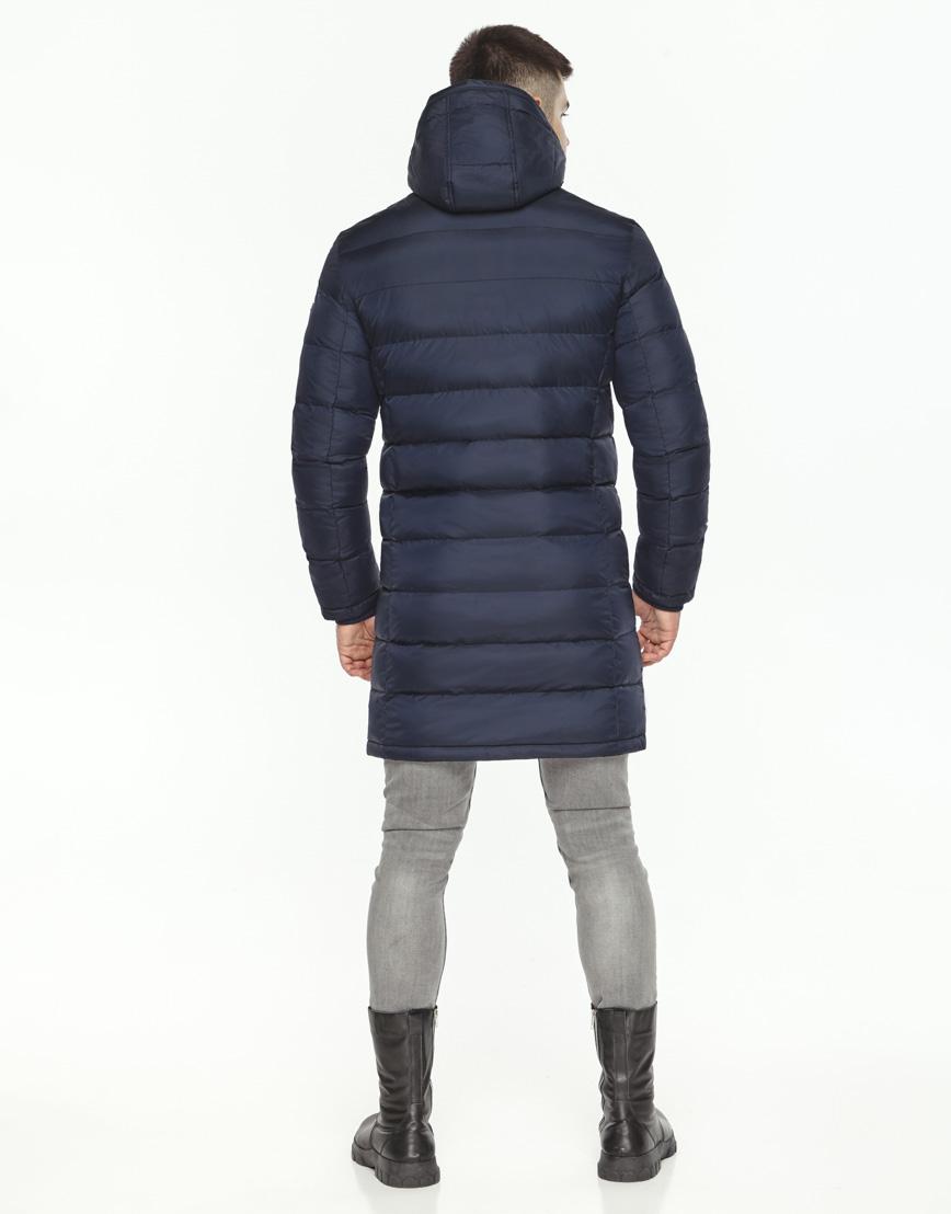 Куртка зимняя темно-синяя мужская модель 35680 оптом фото 4