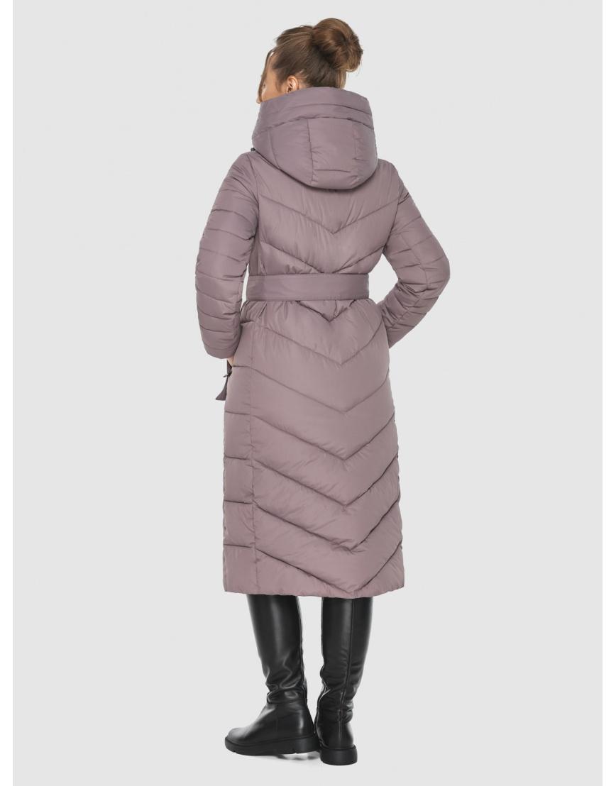 Куртка длинная женская Ajento цвет пудра 21152 фото 4