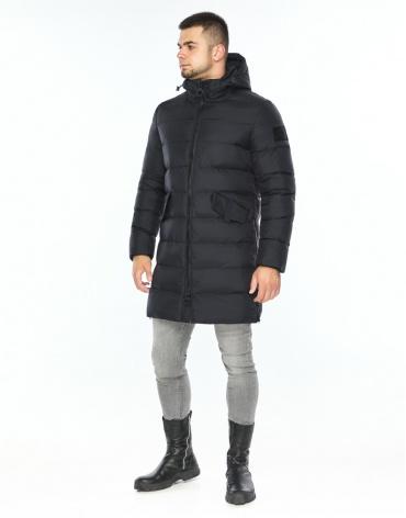 Куртка темно-синяя комфортная зимняя модель 26350 фото 1