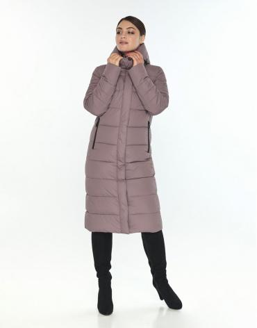 Женская комфортная куртка большого размера Wild Club цвет пудра 538-74 фото 1