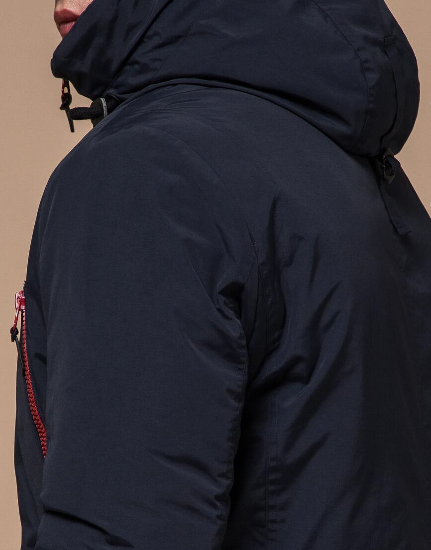 Синяя зимняя парка качественного пошива модель 48560 фото 6