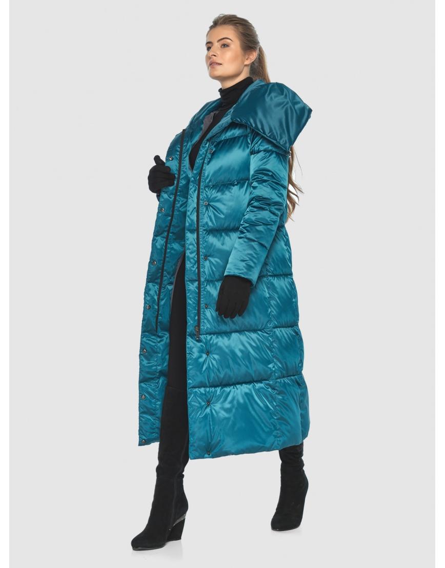 Куртка комфортная подростковая Ajento зимняя аквамариновая 21550 фото 6