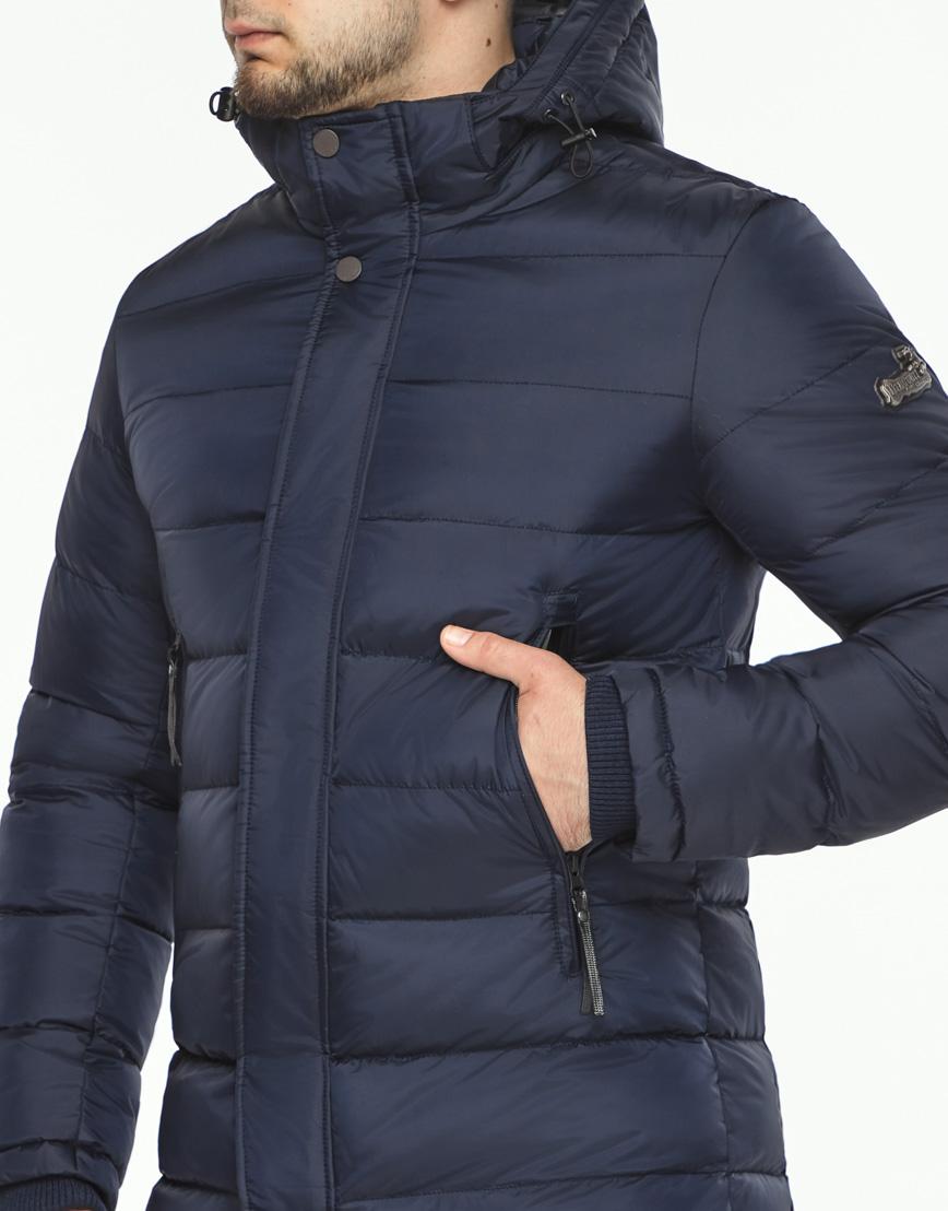Куртка зимняя темно-синяя мужская модель 35680 оптом фото 5