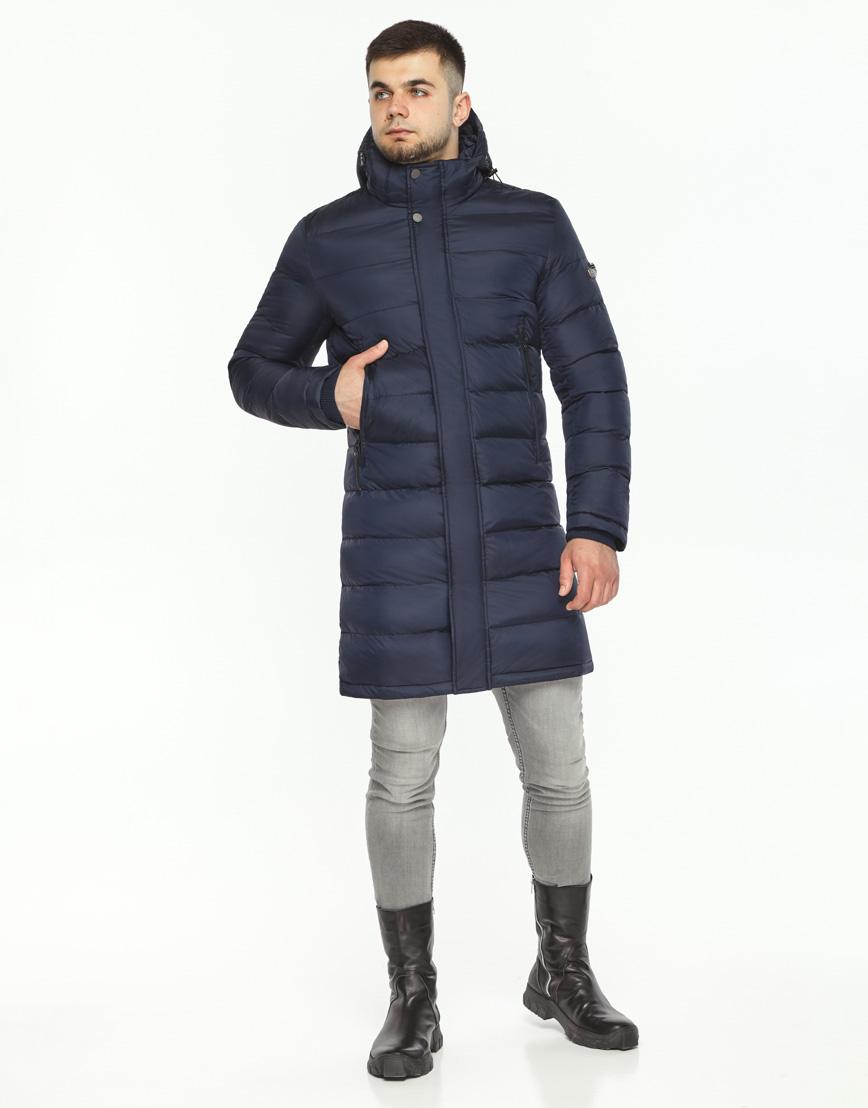 Куртка зимняя темно-синяя мужская модель 35680 оптом фото 1