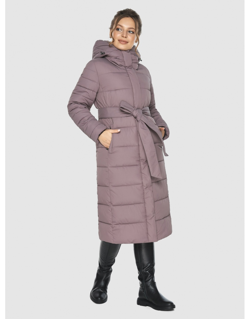 Куртка длинная женская Ajento цвет пудра 21152 фото 5