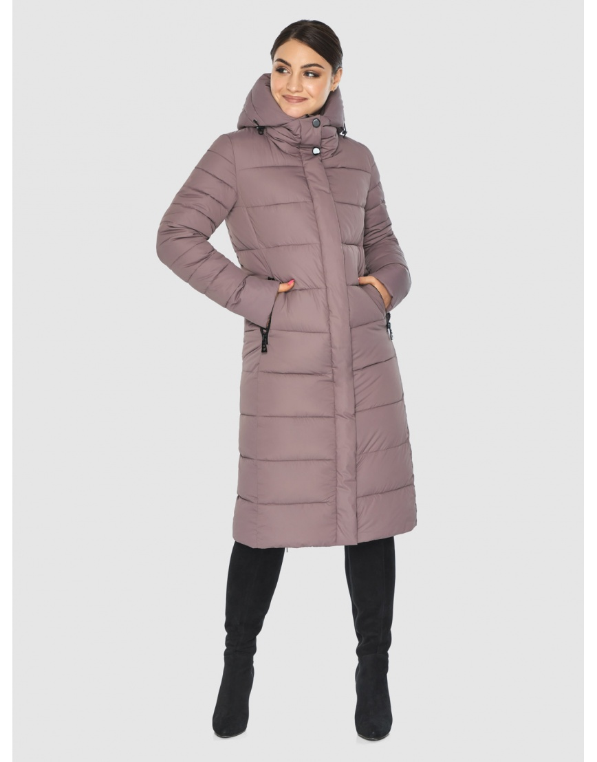 Практичная подростковая зимняя курточка Wild Club цвет пудра 538-74 фото 3