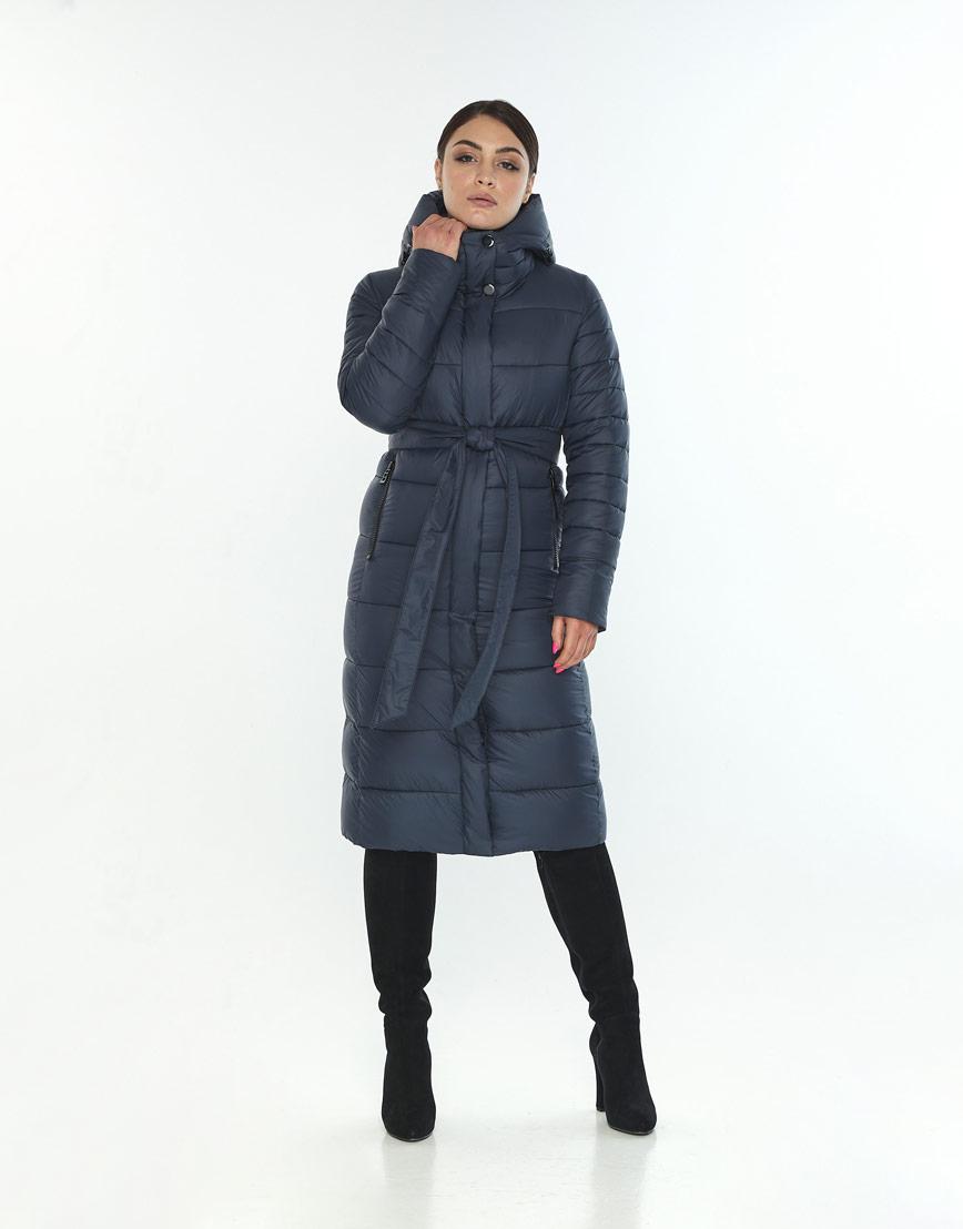 Зимняя женская куртка большого размера Wild Club цвет синий 538-74 фото 2