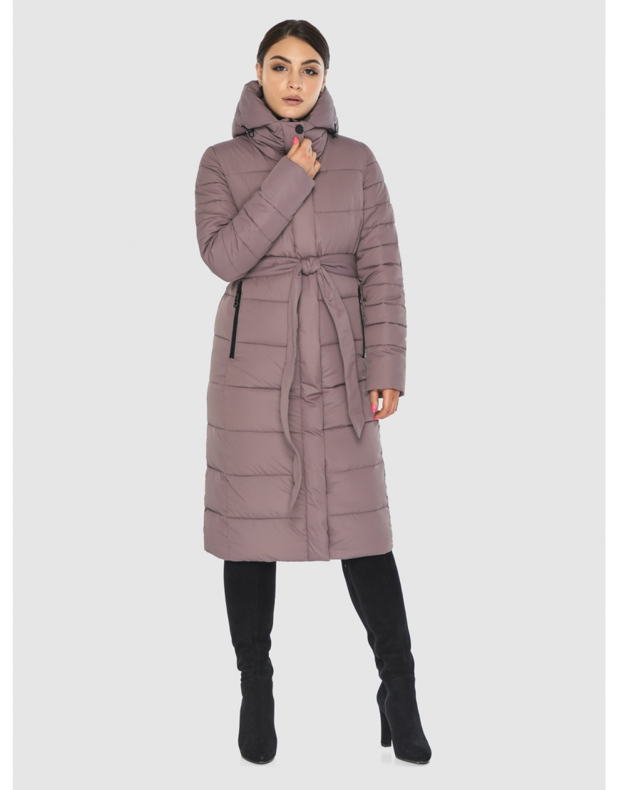 Практичная подростковая зимняя курточка Wild Club цвет пудра 538-74 фото 1
