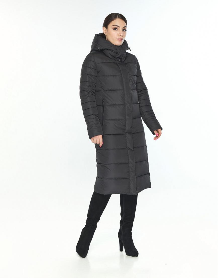 Куртка Wild Club женская чёрная с манжетами зимняя 538-74 фото 2