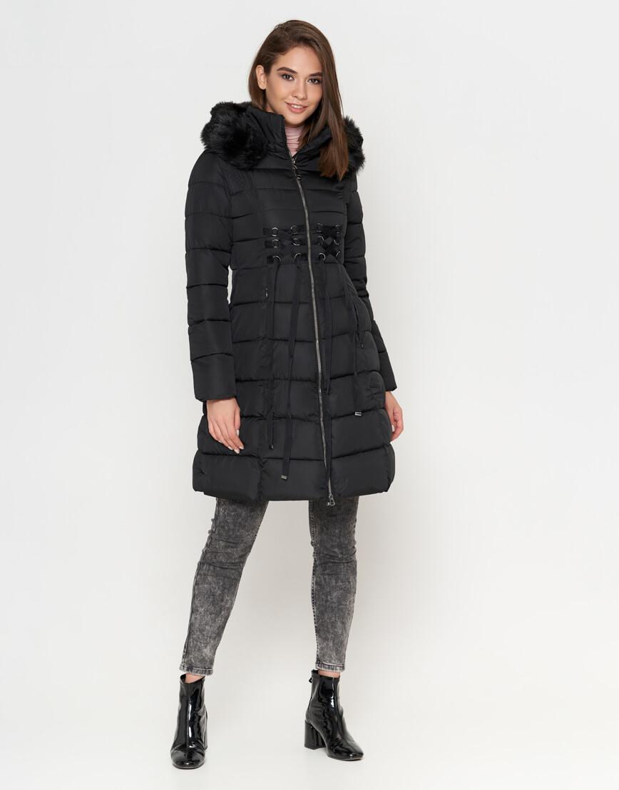 Зимняя женская куртка черного цвета модель 1816