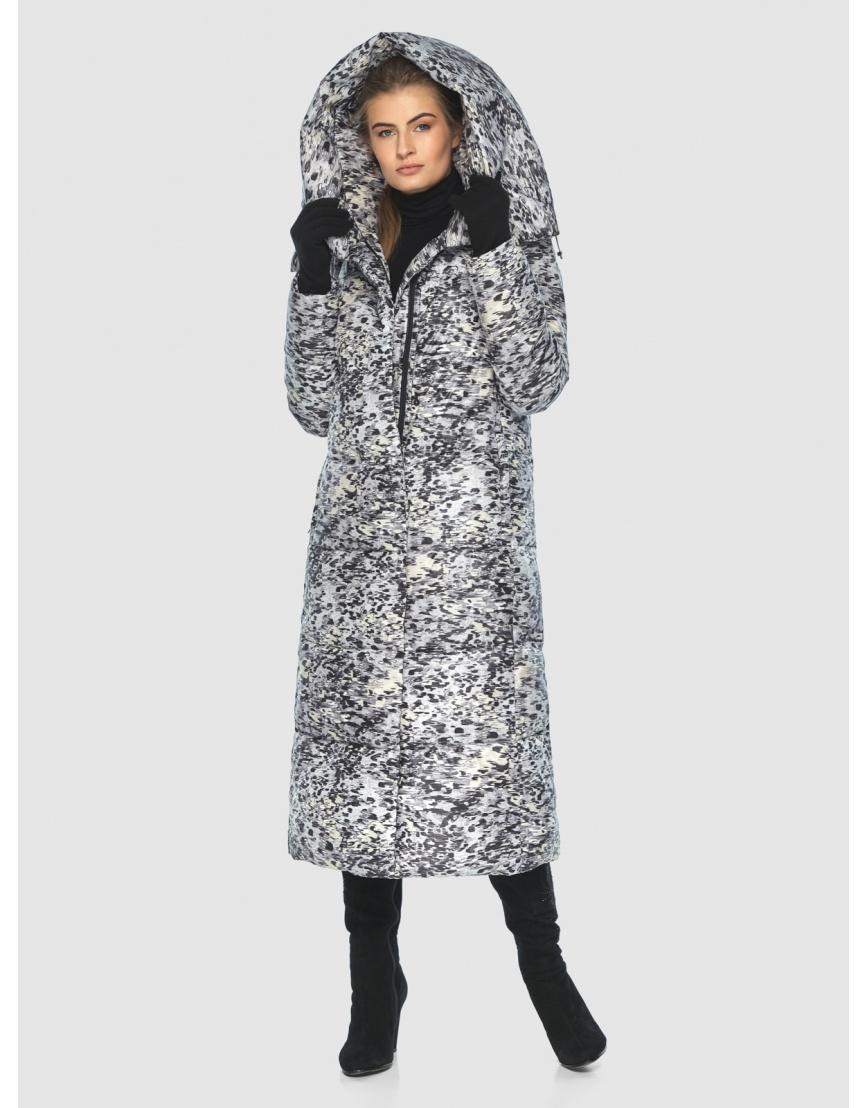 Брендовая курточка Ajento для подростков-девушек зимняя с рисунком 21550 фото 3