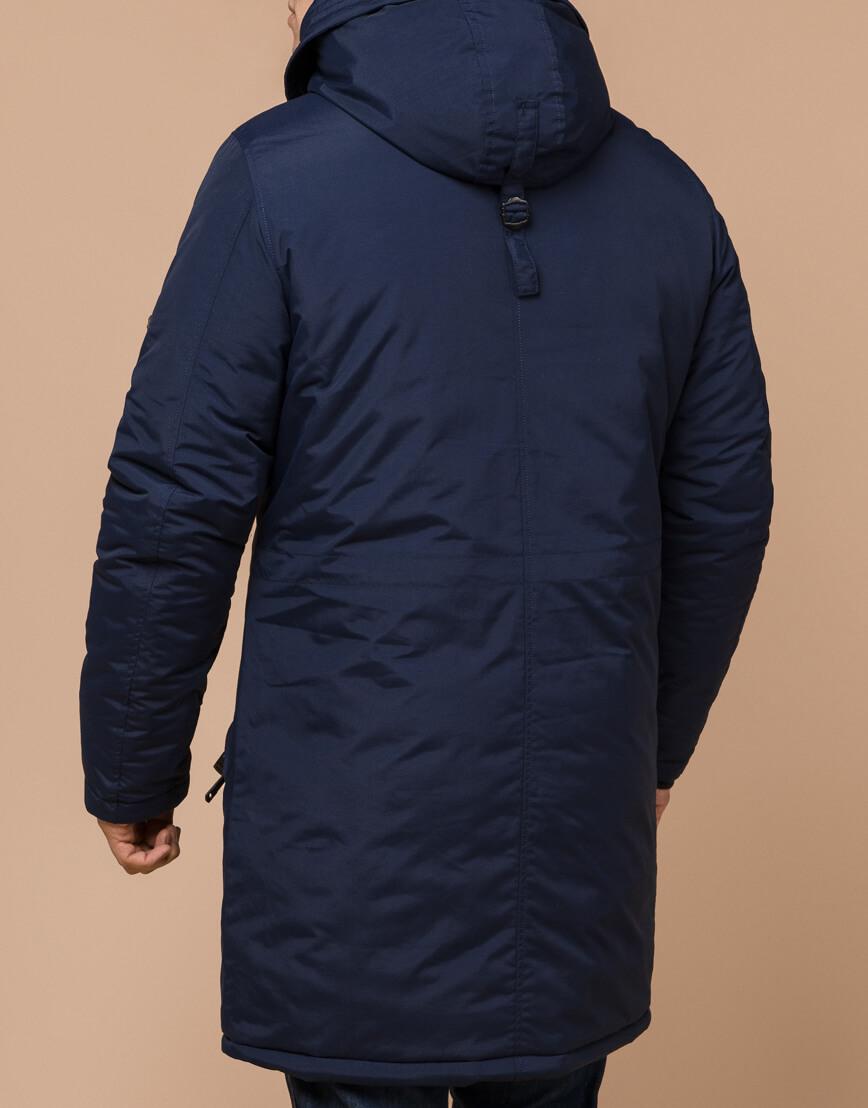 Синяя парка мужская зимняя модель 13620 оптом