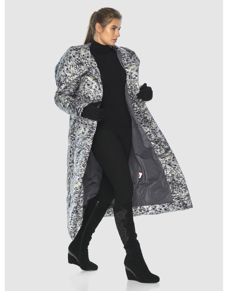 Брендовая курточка Ajento для подростков-девушек зимняя с рисунком 21550 фото 6