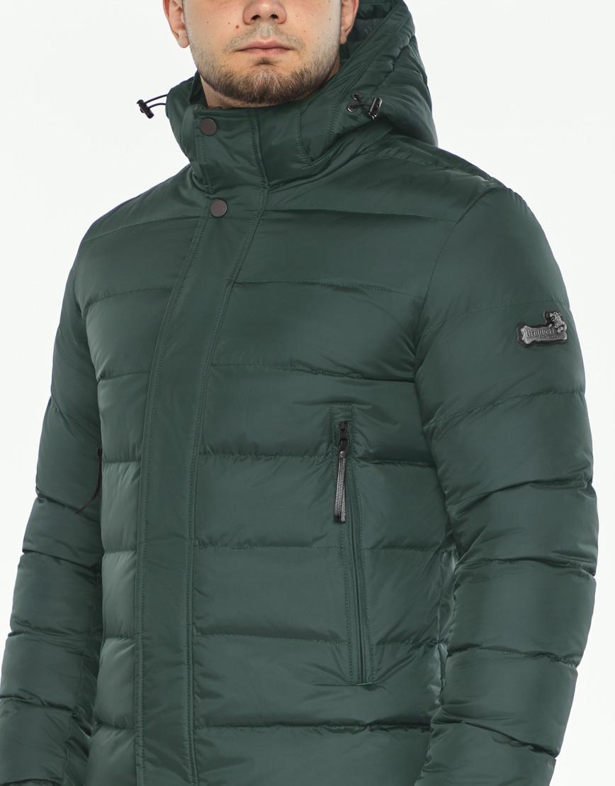 Темно-зеленая куртка мужская зимняя модель 35680 оптом