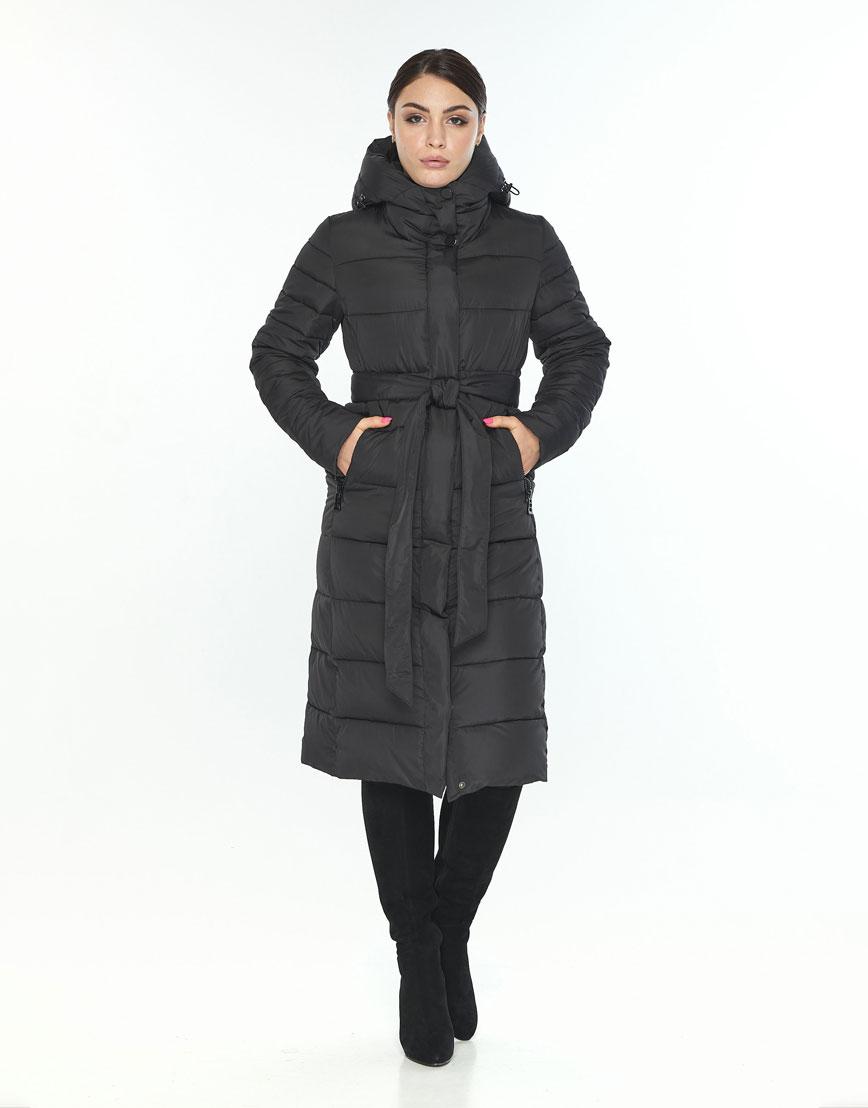 Куртка Wild Club женская чёрная с манжетами зимняя 538-74 фото 1