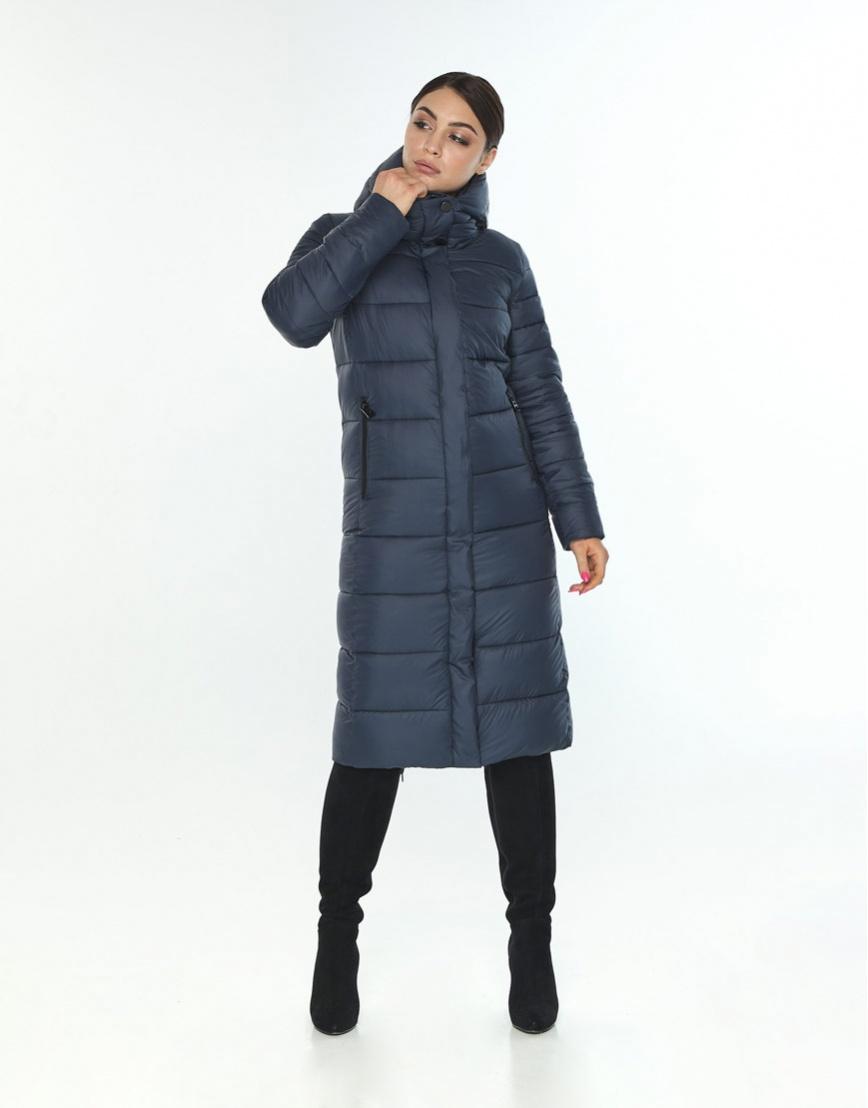 Зимняя женская куртка большого размера Wild Club цвет синий 538-74 фото 1