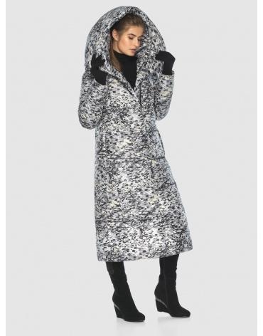 Брендовая курточка Ajento для подростков-девушек зимняя с рисунком 21550 фото 1