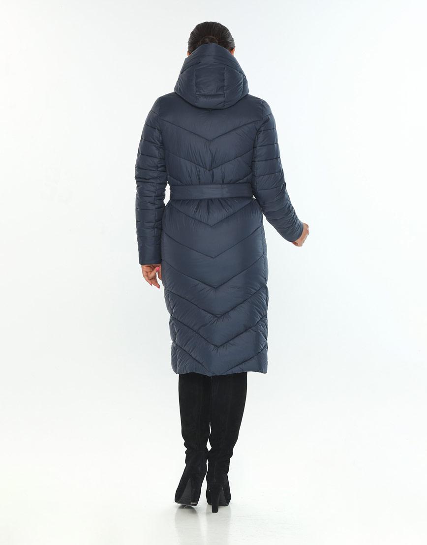Зимняя женская куртка большого размера Wild Club цвет синий 538-74 фото 3
