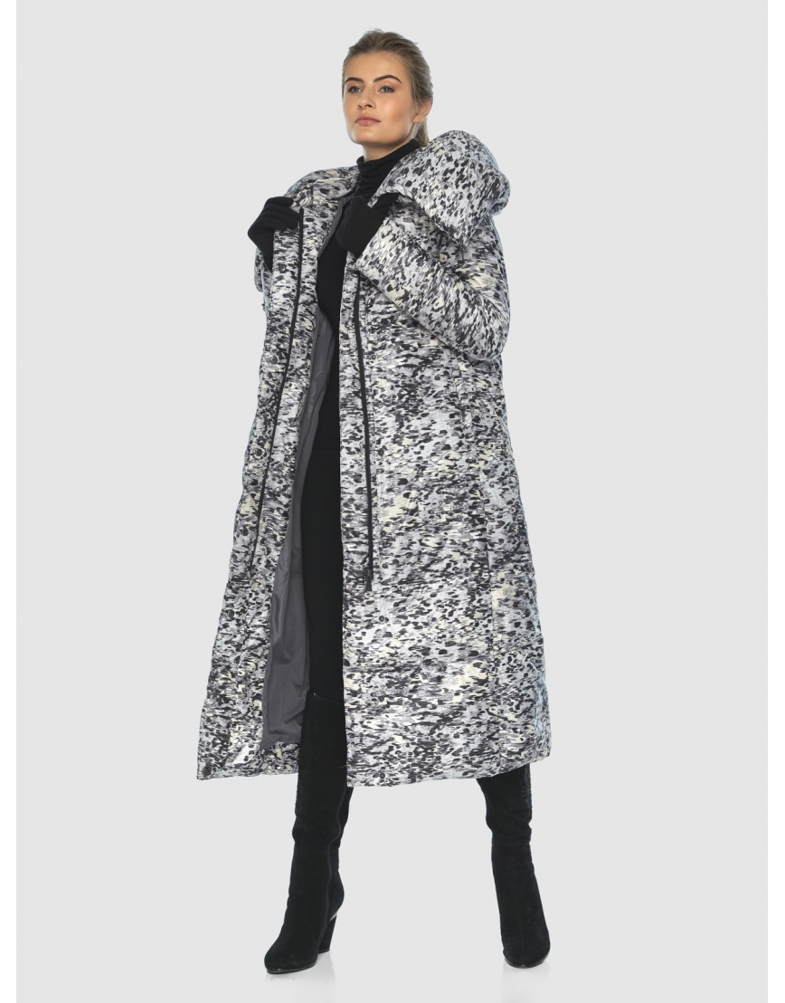 Брендовая курточка Ajento для подростков-девушек зимняя с рисунком 21550 фото 5