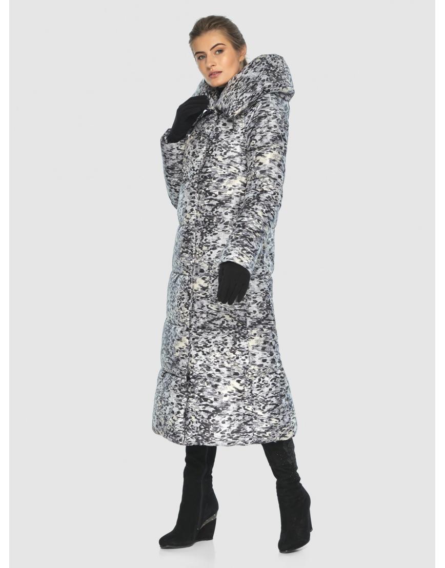 Брендовая курточка Ajento для подростков-девушек зимняя с рисунком 21550 фото 2