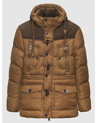 48 (M) – последний размер – пуховик коричневый зимний Pull&Brae мужской тёплый 200070 фото 1