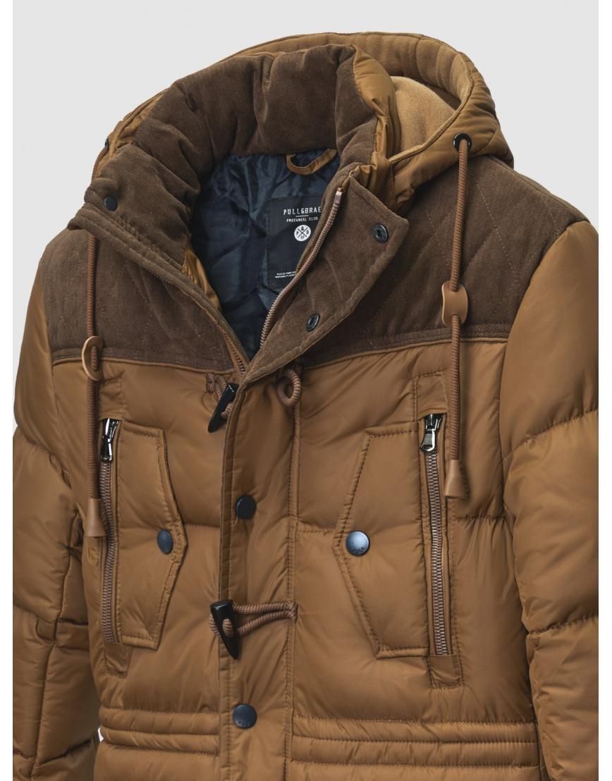 48 (M) – последний размер – пуховик коричневый зимний Pull&Brae мужской тёплый 200070 фото 3