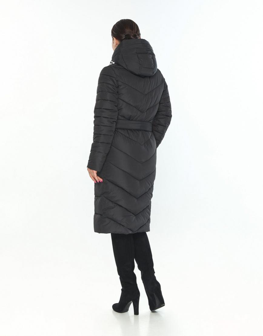 Куртка Wild Club женская чёрная с манжетами зимняя 538-74 фото 3