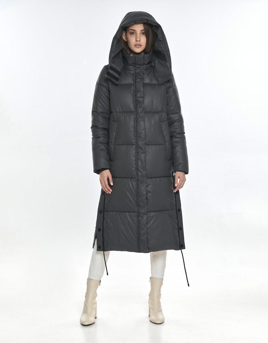 Серая куртка Vivacana практичная женская 7654/21 фото 1