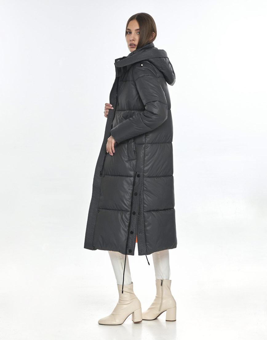 Серая куртка Vivacana практичная женская 7654/21 фото 3