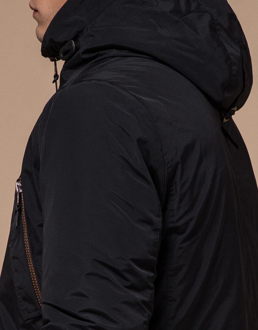 Черная комфортная зимняя парка модель 48560 фото 6