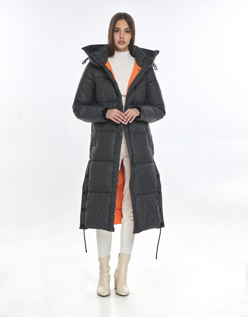 Серая куртка Vivacana практичная женская 7654/21 фото 2