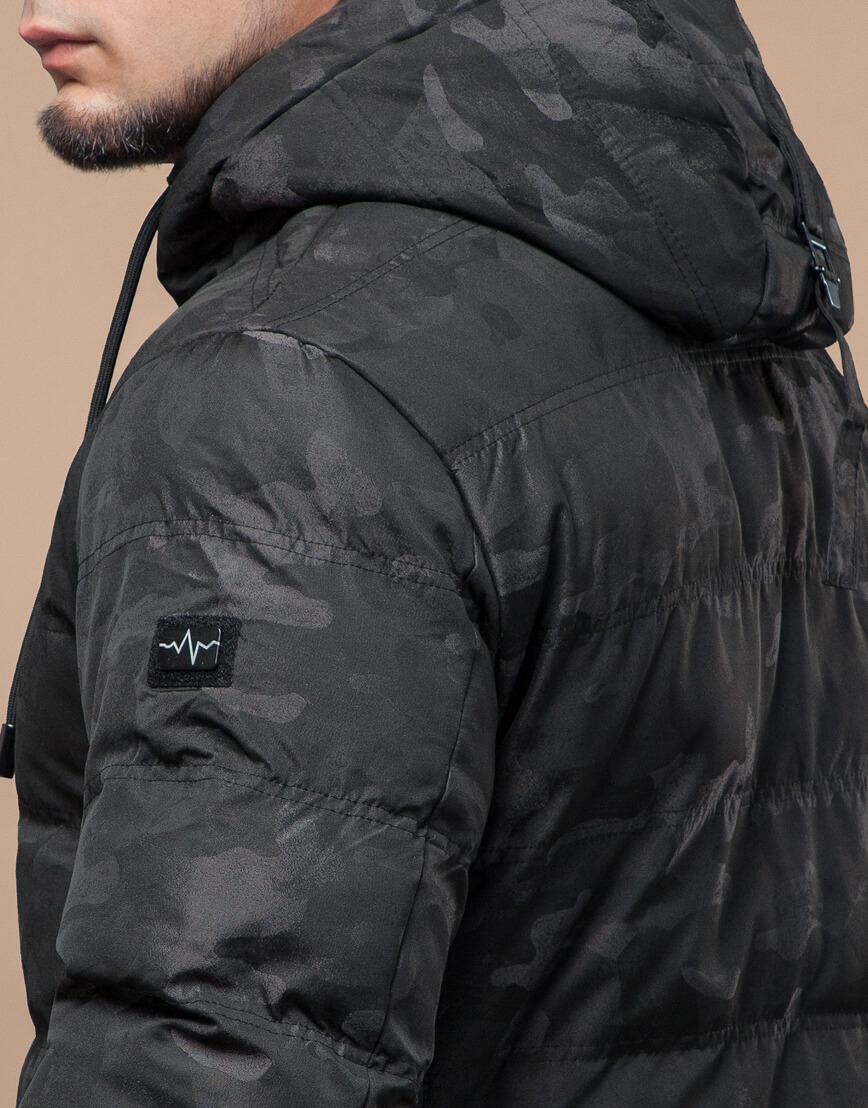 Черная куртка зимняя дизайнерская оригинальная модель 25380 фото 7