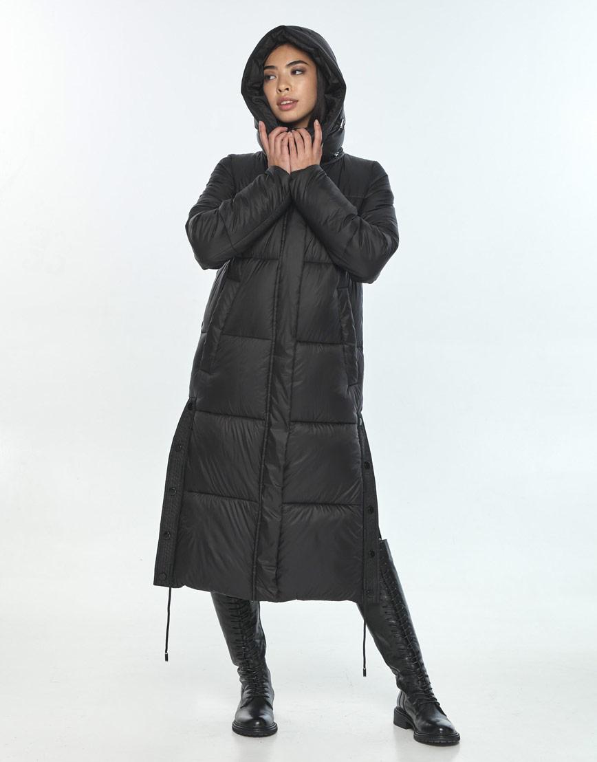 Зимняя чёрная куртка для подростка-девушки удобная Moc M6874 фото 2