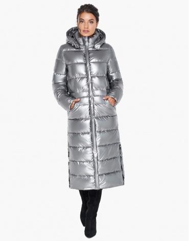 Брендовый воздуховик зимний женский цвет серебро модель 31007 оптом