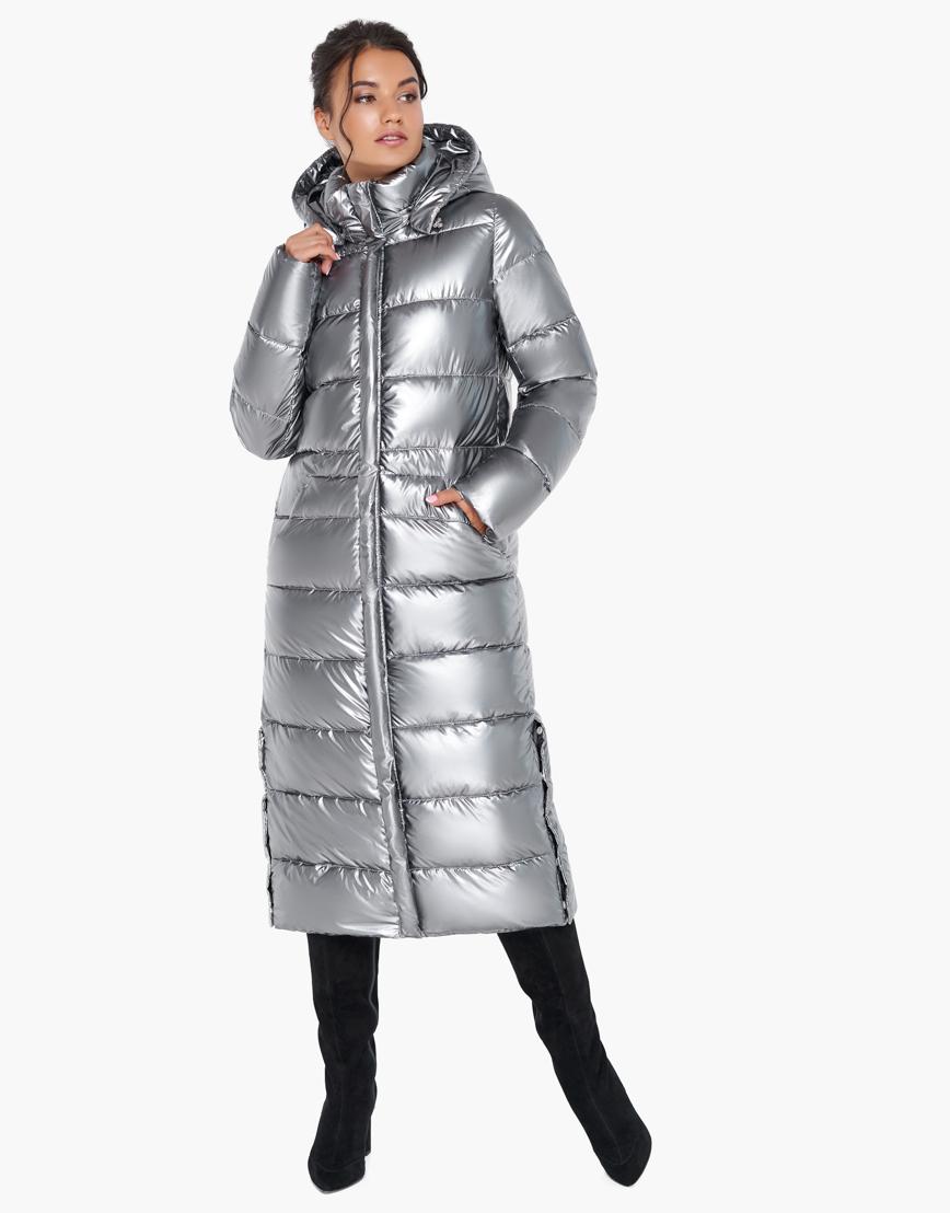 Брендовый воздуховик Braggart зимний женский цвет серебро модель 31007 оптом