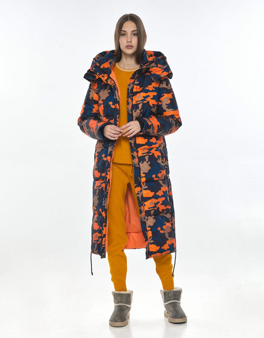 Удобная длинная куртка с рисунком женская Vivacana 7654/21 фото 2