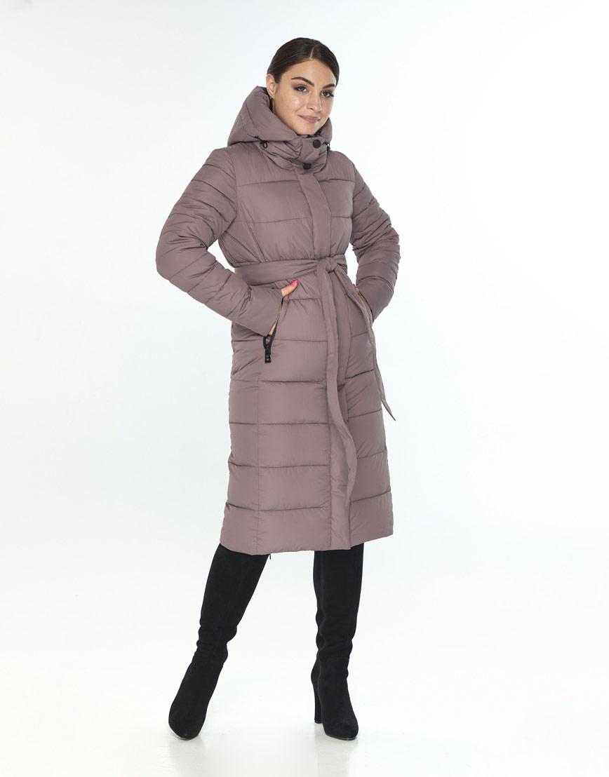 Женская зимняя куртка Wild Club модная цвет пудра 538-74 фото 1